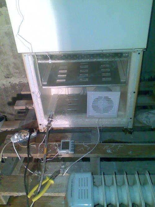 закрепляем вентилятор