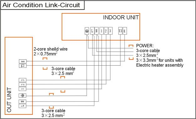 Электрическая схема подключения кондиционера