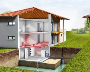 Обогрев частного дома с помощью геотермального насоса