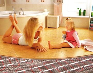Теплые полы идеальны для семьи с маленькими детьми