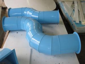 Пластиковый воздуховод из полипропилена