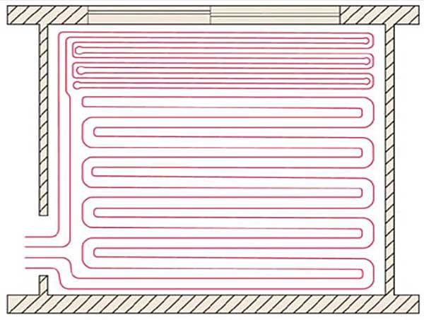шаг укладки отопительной системы теплого пола