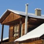 асбестовый дымоотвод на даче
