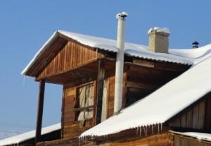 асбестовый дымоход на даче