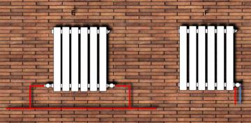 Схема подключения радиаторов отопления - нижнее, последовательное, диагональное подключение радиаторов при однотрубной системе, виды на фото и видео