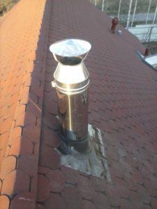 утепленный дымоход установка на крыше
