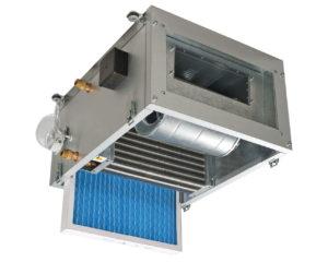 приточная установка с водяным калорифером для вентиляции