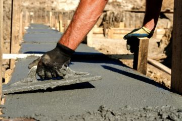 дренаж фундамента и бетон